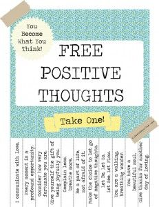 free positive thoughts i like this it would be fun to mess with the