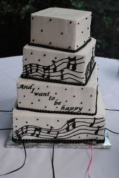 music note cake- looks yummy! Music Birthday Cakes, Music Wedding Cakes, Music Themed Cakes, Music Cakes, Music Themed Parties, Birthday Cakes For Men, Themed Wedding Cakes, Music Note Cake, Charm City Cakes
