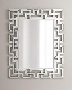 Greek-Key Mirror at Horchow.