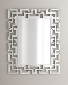 """Greek-Key Mirror at Neiman Marcus $575 plus 115 delivery. 36.5""""Wx1""""Dx46""""T (also at InsideAvenue)"""