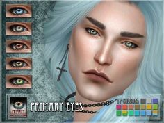 The Sims Resource: Primary eyes by Remus Sirion • Sims 4 Downloads