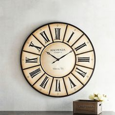 Pier 1 Imports Magnolia Home Village Wall Clock fixer upper Country Home Exteriors, Country Farmhouse Decor, French Country Decorating, Farmhouse Style, Farmhouse Ideas, Farmhouse Design, Modern Farmhouse, French Country Bedrooms, French Country Style