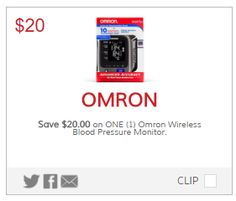 $20 off any One Omron Wireless Blood Pressure Monitor