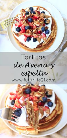 Futurtitas Saludables de Espelta y avena. El desayuno perfecto. Food Hacks, Healthy Recipes, Healthy Food, Deserts, Food Porn, Yummy Food, Sweet, Breakfast Ideas, Pancakes