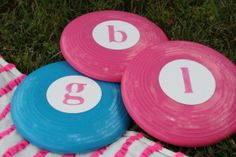 Frisbees as party gifts @Shelly Stacey