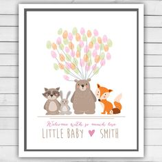 Hey, I found this really awesome Etsy listing at https://www.etsy.com/listing/207356888/woodland-baby-shower-guestbook