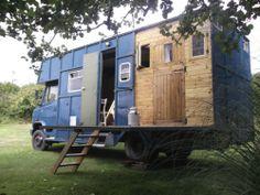 CONVERTED MERCEDES 811 HORSEBOX motorhome, bespoke rustic interior, woodburner | eBay