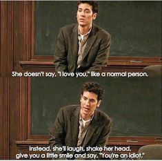 How I Met Your Mother Ted has fallen in love. It all started when his best friend Marshall drops the bombs. How I Met Your Mother, I Meet You, Told You So, Love You, Himym Quotes, Himym Memes, Qoutes, Iconic Movies, Good Movies