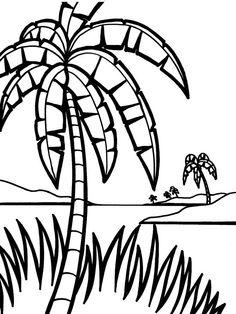 Desenhos para colorir para crianças. Desenhos para imprimir e colorir Natureza 40