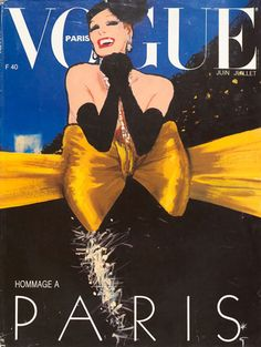 René Gruau, 1985 VOGUE