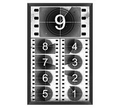 Based on a film countdown from the black-and-white days of cinema, our giclée reproduction of an original artwork displays the familiar numerals in vertical format starting at Wall Art Prints, Framed Prints, Canvas Prints, Black And White Wall Art, Black White, Vintage Office, Artwork Display, Typography Quotes, Vintage Movies