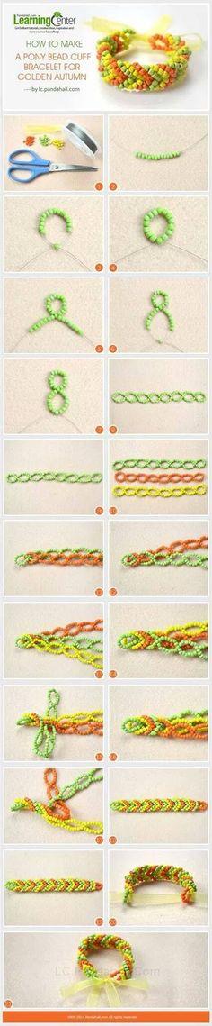 Fishtail braid cuff kandi 10904621_1531965883745905_6140735218958890277_o.jpg (424×2048)