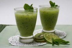 Shake de limão com kiwi