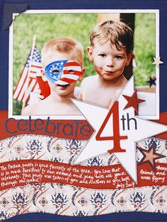 American Flag Scrapbook Page