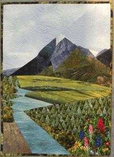Alaska art quilt by Ruth Powers