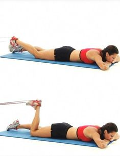 Best Full Body Resistance Band Exercises - Resistance Band Hamstring Curls #BeautyRoutineCalendar Abs Workout Video, Abs Workout Routines, Gym Workout Tips, Butt Workout, Easy Workouts, No Equipment Workout, Hamstring Workout, Hamstring Curls, Best Resistance Bands