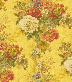 LIVING ROOM: Home Decor Print Fabric-Waverly Ballad Bouquet/Gingersnap