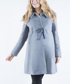 Look at this #zulilyfind! Gray Maternity Swing Coat by Mom2moM #zulilyfinds