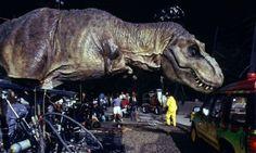 "On the set of ""Jurassic Park"""