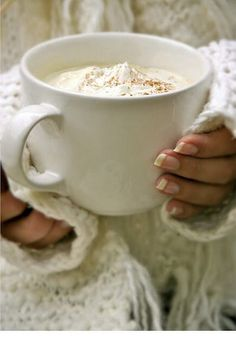 .....am enjoying a hot cup...or a gallon of latte, lol of hot chocolate, etc.