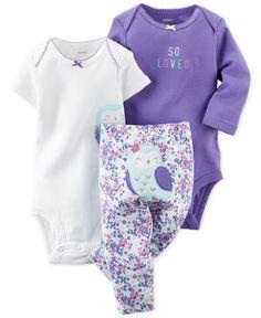 Carter's Baby Girl Owl Bodysuit, So Loved Bodysuit & Floral Pants Set Fashion Kids, Baby Girl Fashion, Fashion Clothes, Style Fashion, Baby Girl Owl, Carters Baby Girl, Baby Girls, Outfits Niños, Kids Outfits