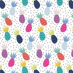 Pineapples Pattern by Demi-Goutte