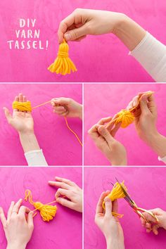 Follow this easy DIY tutorial to learn how to make yarn tassels.