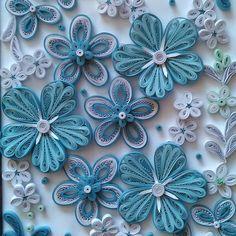 #квиллинг#квиллингиркутск#quillingflowers#quilling#голубой