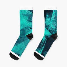 'Blue Please' Socks by Beer-Bones My Socks, Crew Socks, Designer Socks, Bones, Looks Great, My Arts, Art Prints, Dark, Knitting