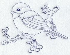 Chickadee (Bluework)