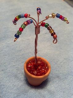 Fairy Garden Miniature Copper Pixie Tree in Pot Dollhouse