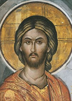 face of Jesus Religious Images, Religious Icons, Religious Art, Byzantine Icons, Byzantine Art, The Bible Miniseries, Lucas 11, Roman Church, Spiritual Paintings