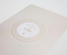 Gas Bijoux — Carte de voeux / pattern / circles / dots / gold