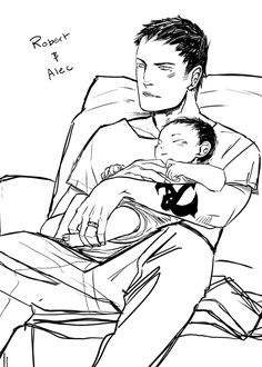 From Cassandra Jean ...    alexander 'alec' lightwood, robert  lightwood, the mortal instruments, I swear, this is so cute XD