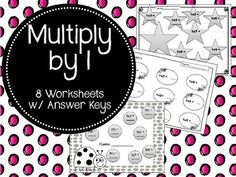 8 multiplication worksheets to help your students review their 1 times tables.Answer keys included.