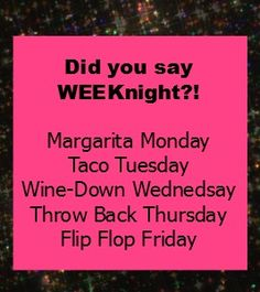 Weeknight party themes www.thepartyplansecret.com