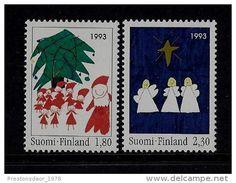 SET 2 STAMPS - CHRISTMAS - 1993 - FINLAND - MNH/** - Delcampe.net