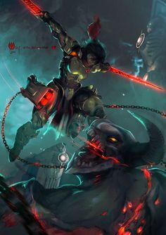 Doom 3, Doom Game, Fantasy Character Design, Character Art, Character Reference, Angel Protector, Doom 2016, Cinematic Trailer, Sci Fi Armor