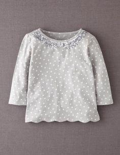 Sequin Collar T-shirt - O
