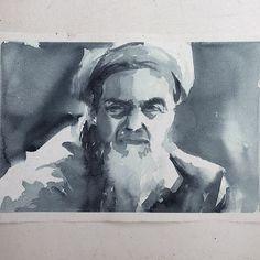 Segunda-feira, estudo monocromático #aquarela #watercolor. Workshop em SP: 1 e 2 de outubro. Inscrições: contato@pleinairstudio.com.br.