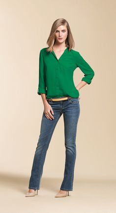 5efa8ecb422fee Women s Cute and Trendy Tops. Green Blouse ...