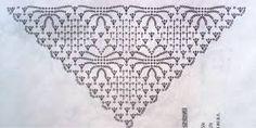 Znalezione obrazy dla zapytania схема вязания шали