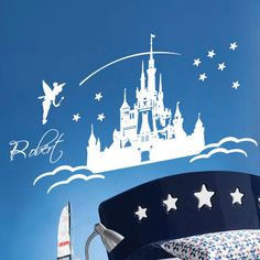Personalised Fairy Castle Wall Art / Wall Stickers / Wall Decals from AmazingSticker. £14.99, via Etsy.