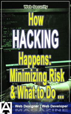 A fairly thorough article on how web site hacking happens, what to do to prevent it (as much as possibly, anyway), and what to do if it happens. Sql Injection, Web Security, Fun At Work, Business Marketing, Web Development, Vulnerability, Programming, Web Design, Hacks