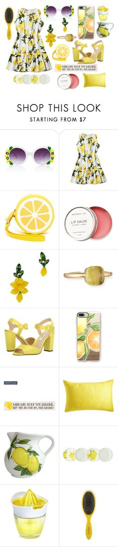 """""""Lemons"""" by lilytartangirl ❤ liked on Polyvore featuring A-Morir by Kerin Rose, Shiraleah, Birchrose + Co., Auden, Pomellato, Nina, Casetify, Abbiamo Tutto, Kate Spade and Juice"""