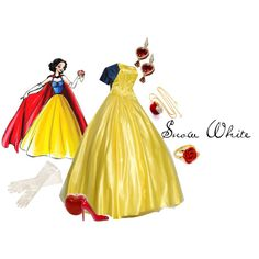 Disney Designer Dolls: Snow White, created by waitingforthelights on Polyvore