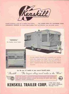 Vintage 1959 Kenskill Park Travel Trailer Model 29