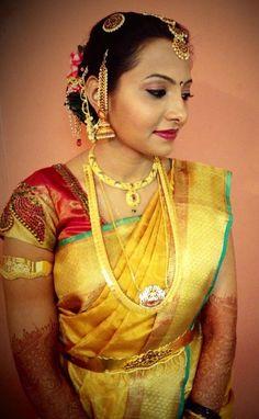 South Indian bride | bridal makeup, saree and jewellery