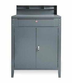 EDSAL 640 Desk,Cabinet Shop,Gray by EDSAL. $388.51. Cabinet Shop Desk, Lockable,Overall Width 34-1/2 In., Overall Height 45-1/8, Overall Depth 30 In.Color Gray, Assembly Required, Includes Door with T Handle, Built-in Lock with 2 Keys, Top Lock Drawer