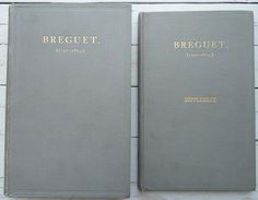 """Very rare """"Breguet (1747 - 1823)"""" by Sir David Lionel Salomons, London, printed in 1921 from Baer & Bosch Auctioneers.  Illustrated with over 150 photographic reproductions and other plates, 233 pages. Pages 116 to the end are all plates, each with a tissue guard. Depicts the front and movements of Breguet pocket watches and clocks. Text in English. A biography and exhaustive reference on the work of a great French watchmaker."""